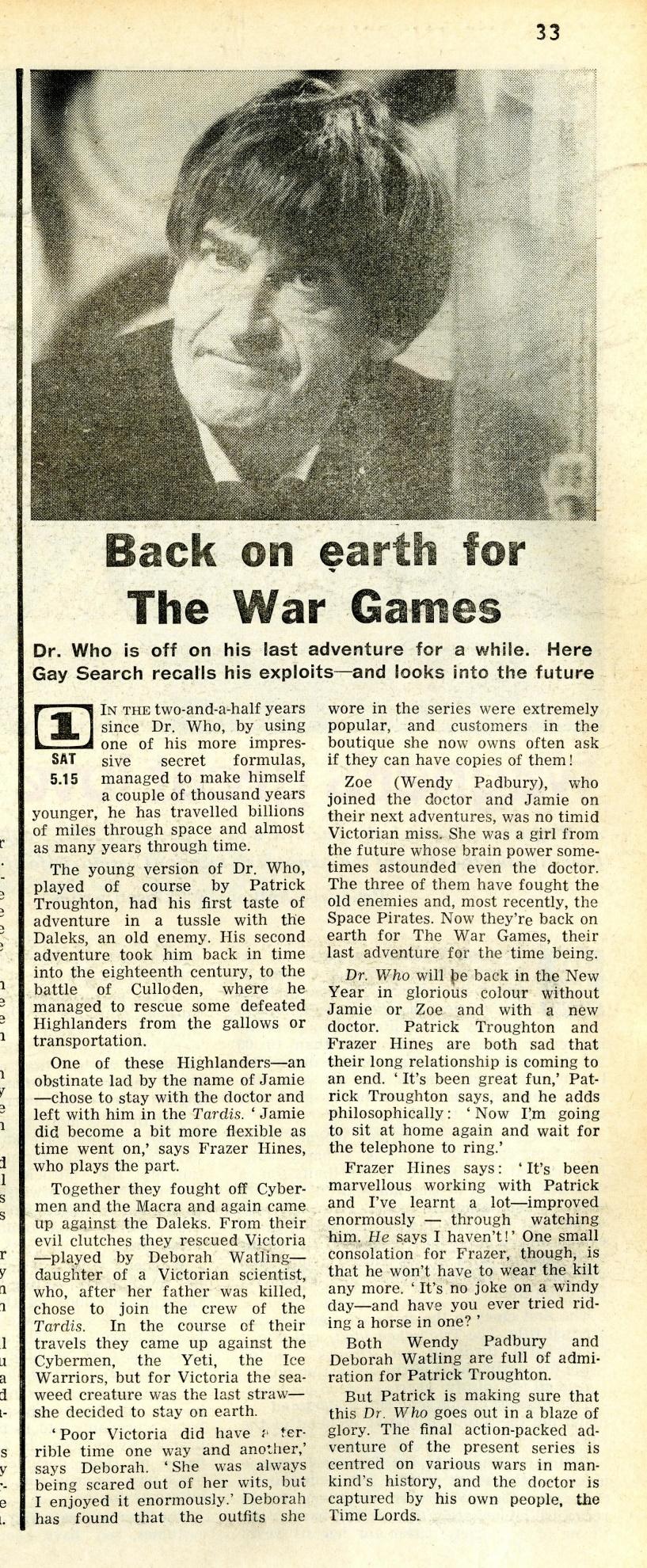 Radio Times, 19-25 April 1969