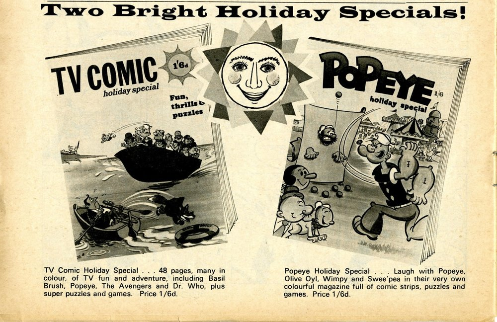 Ad. for the TV Comic Holiday Special in TV Comic no. 912, 7 June 1969