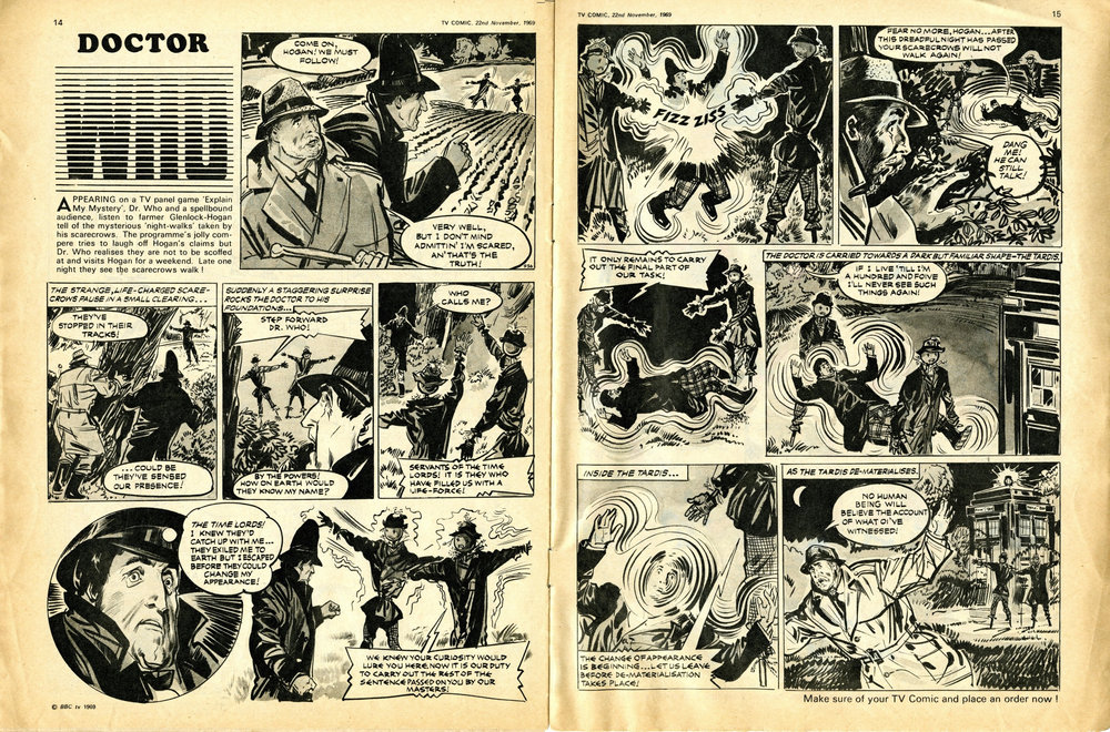 Final appearance of the Second Doctor in TV Comic no. 936, 22 November 1969