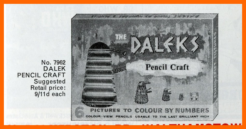 WANTED - Tower Press, Dalek Pencil Craft Set