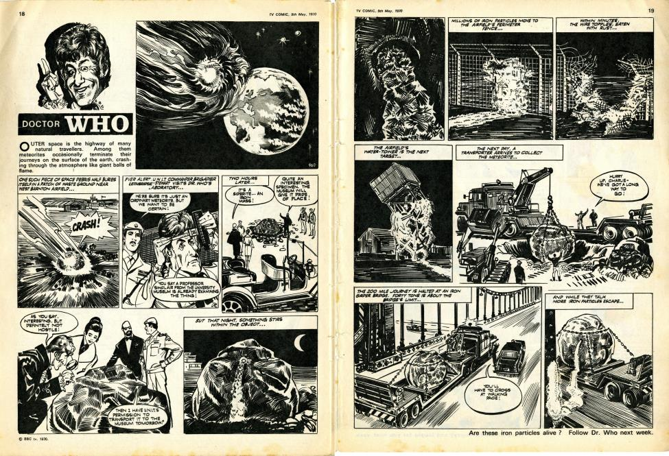 First Liz Shaw strip in TV Comic no. 960, 9 May 1970