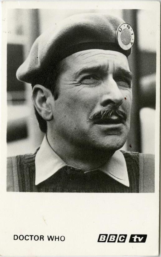 BBC Cast Card of Nicholas Courtney as Brigadier Lethbridge-Stewart