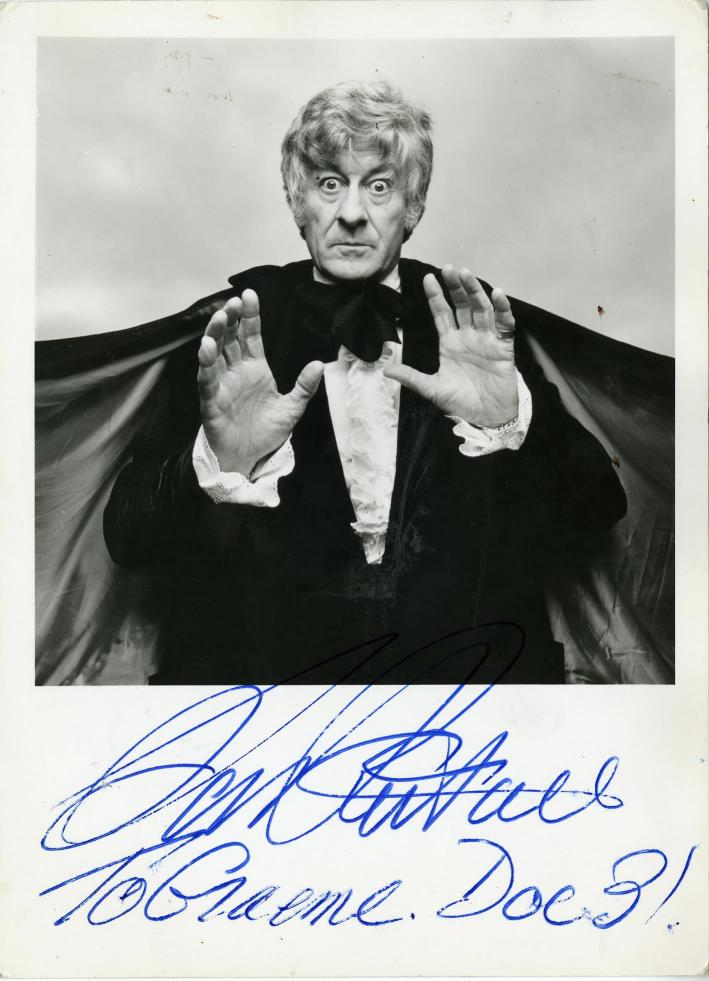 Oversize BBC Promotional Card of Jon Pertwee as the Doctor