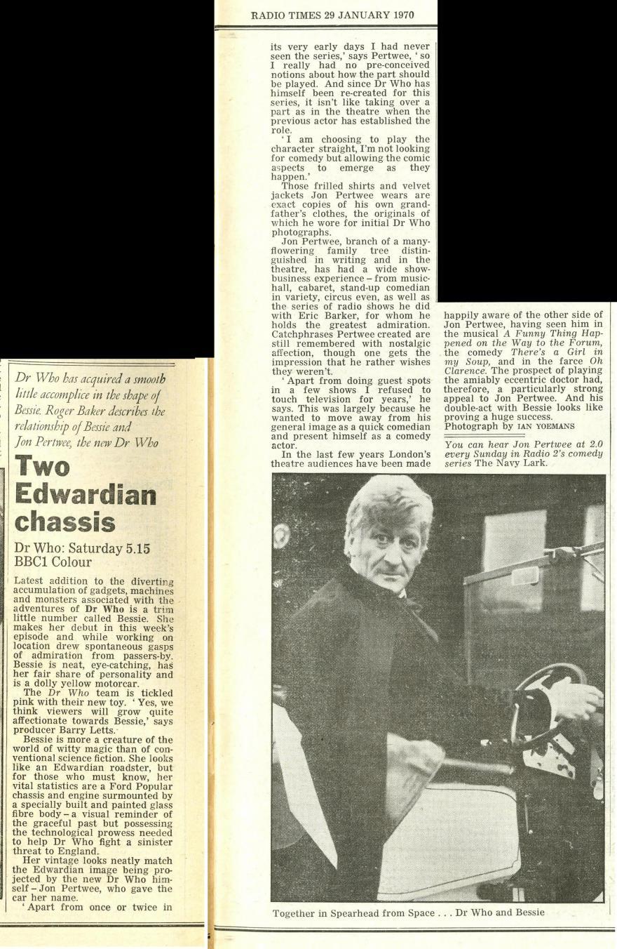 Radio Times, 31 January - 6 February 1970