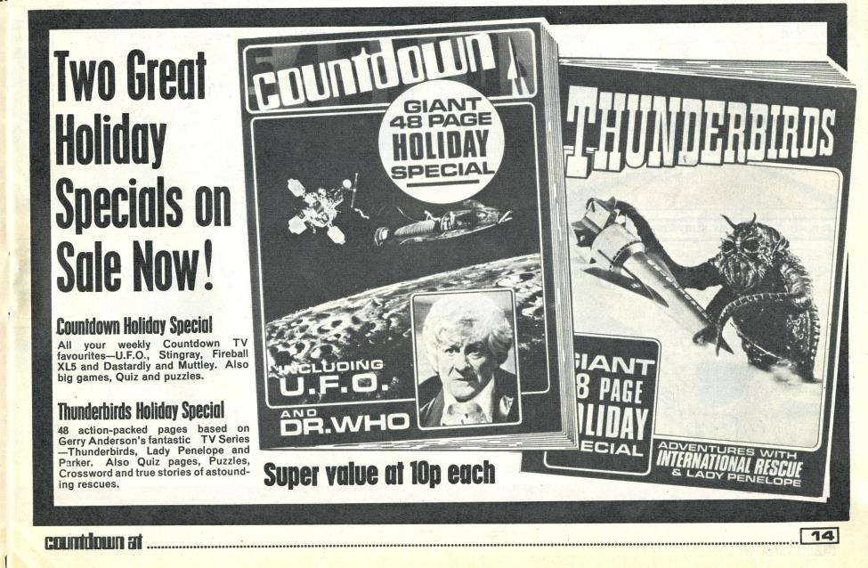 Ad. for the Countdown Holiday Special in Countdown issue 18, 19 June 1971