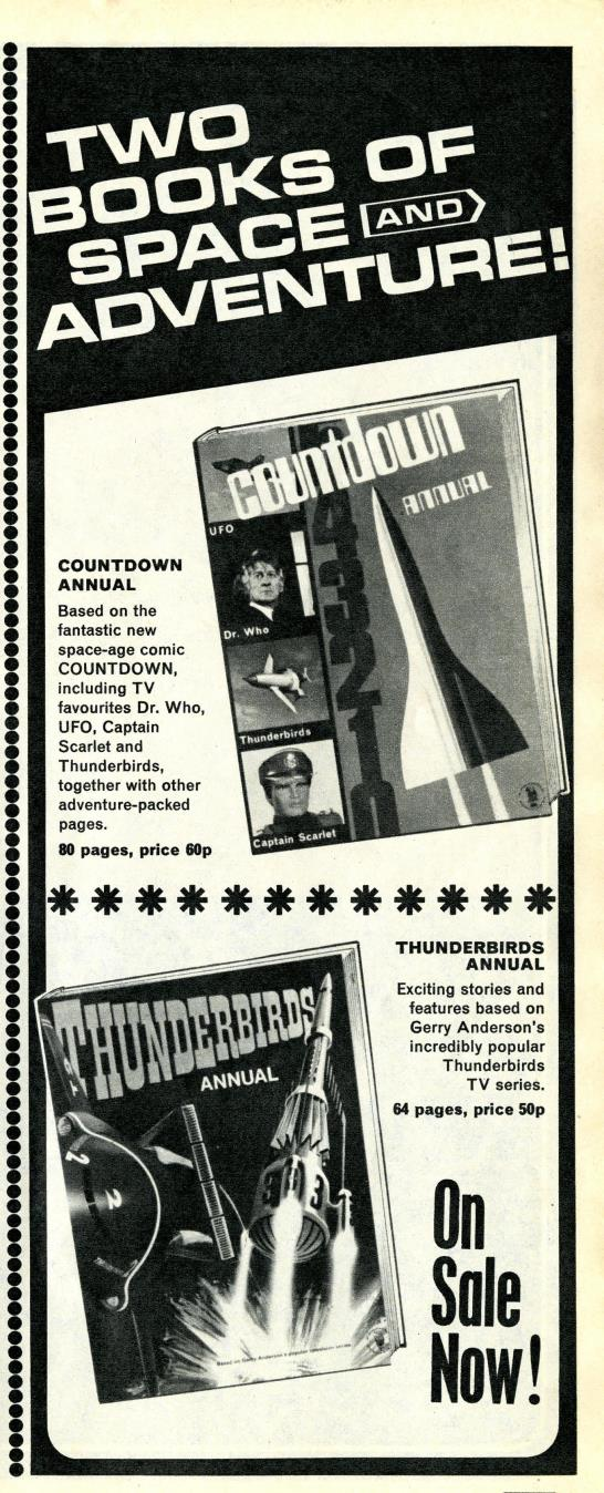 Ad. for the Countdown Annual in Countdown issue 34, 9 October 1971