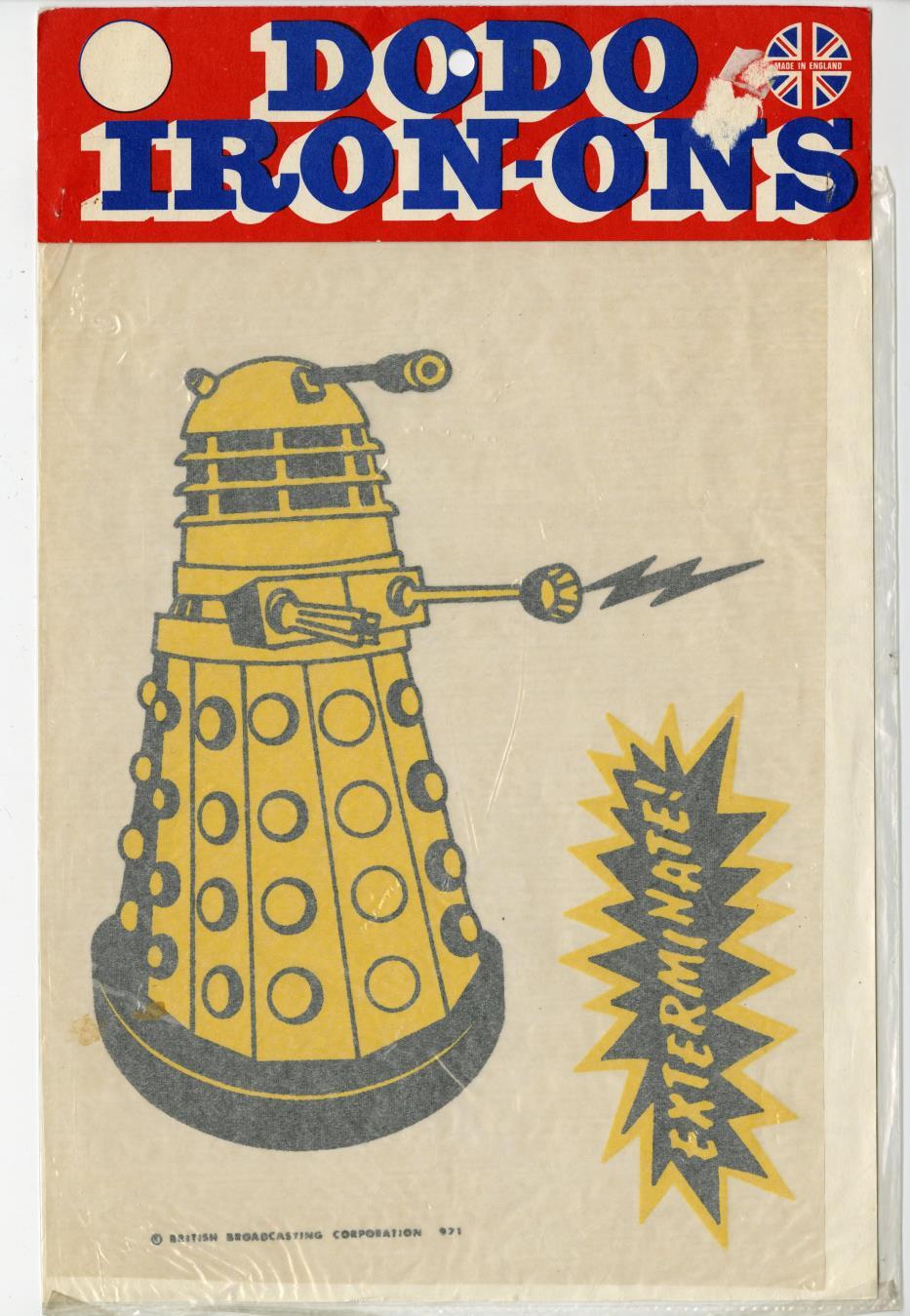 Dodo Iron-Ons, Dalek T-shirt Transfer