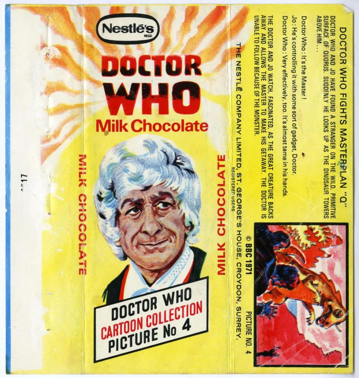 Nestle Doctor Who Milk Chocolate wrapper no. 4, unpriced version
