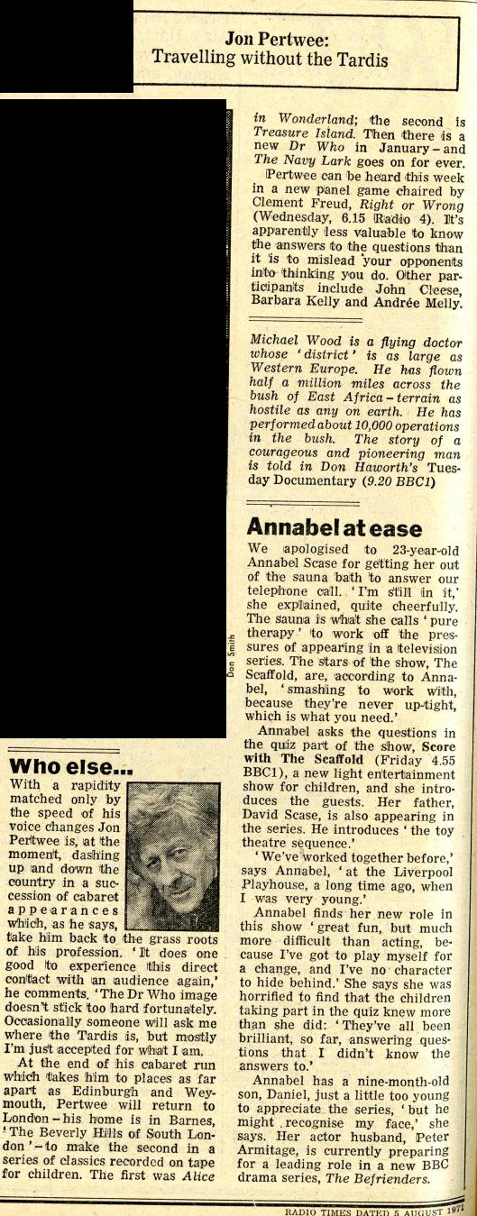 Radio Times, 7-13 August 1971