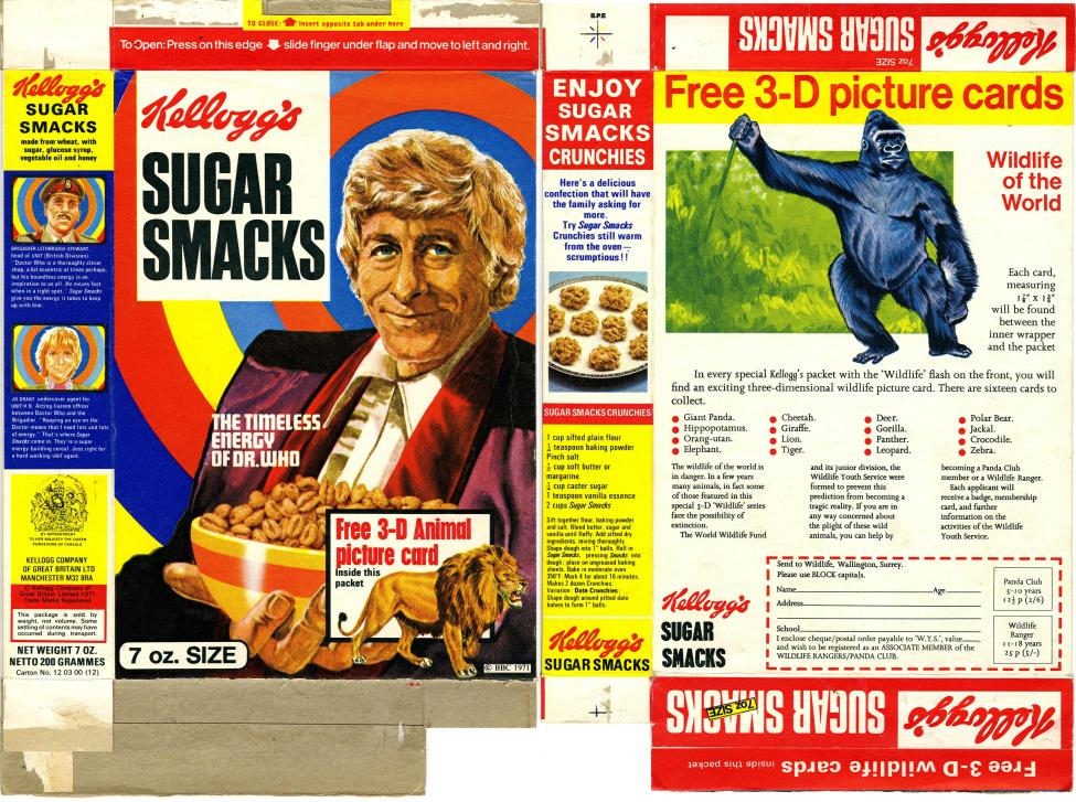 Kellog's Sugar Smacks with 3D animal card, 7 oz. pack
