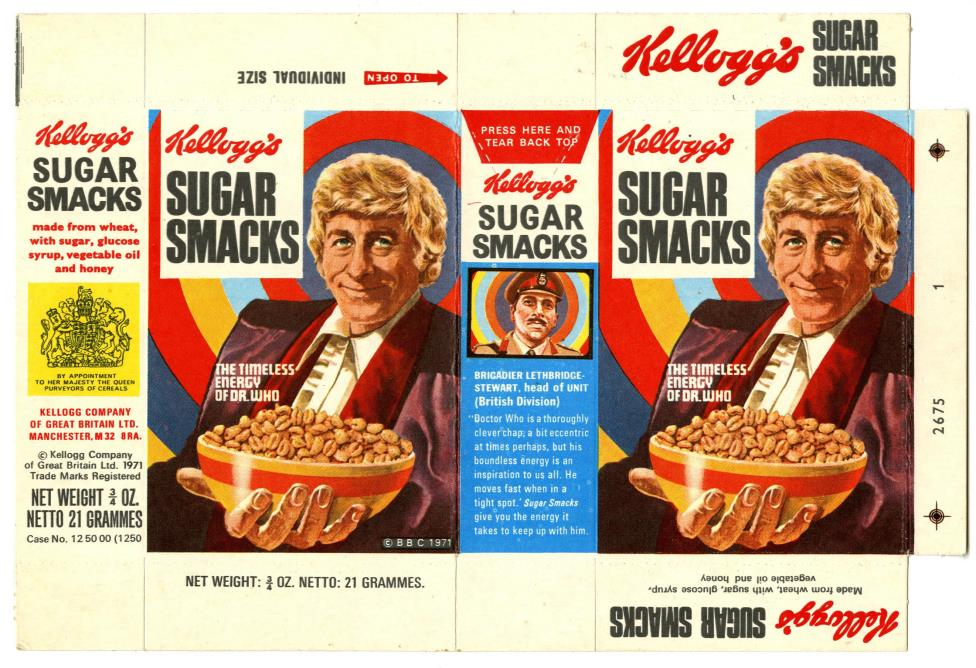 Kellog's Sugar Smacks Doctor Who promotion, Variety Pack size