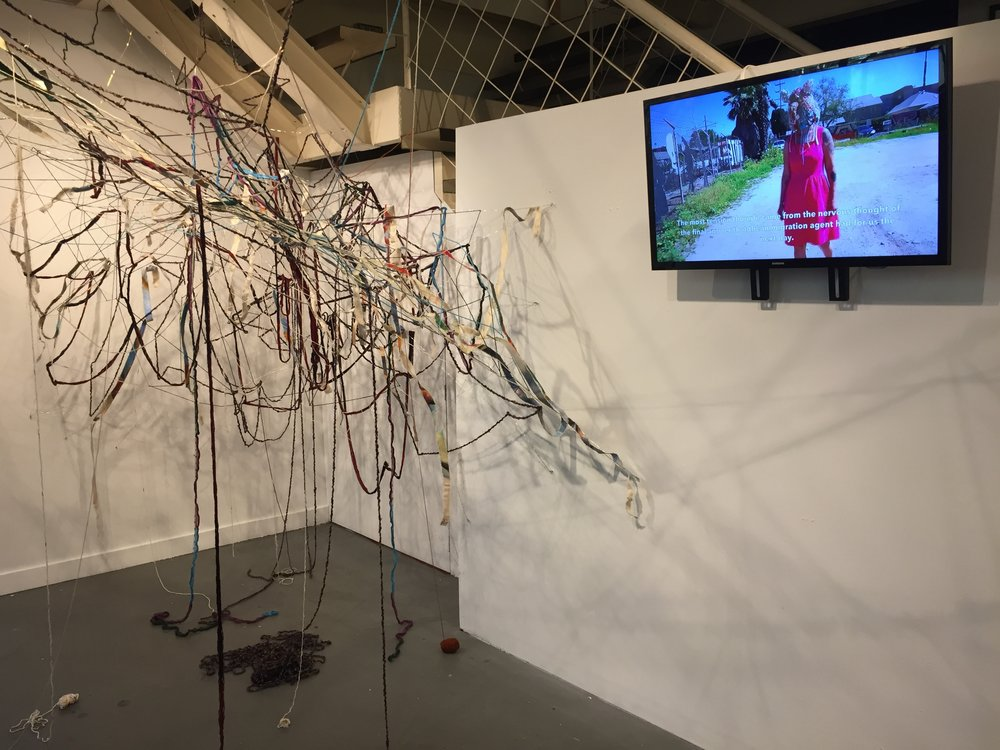 Common Thread--installation work in progress, Mujer Inmigrante video