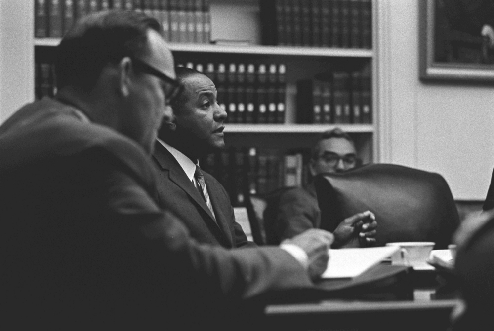 Carl T. Rowan with Henry Kissinger, 1965