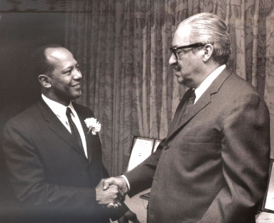 Ambassador Terence Todman with Thurgood Marshall                    (Photo Credit:  ADST  and Todman family)
