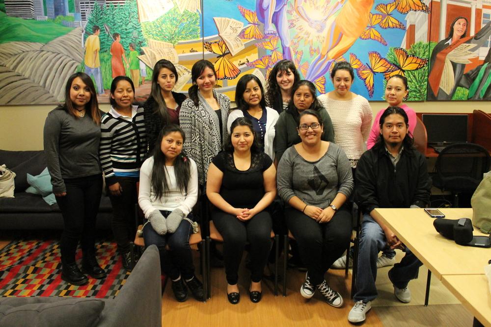 meeting with PSU student group, MeChA