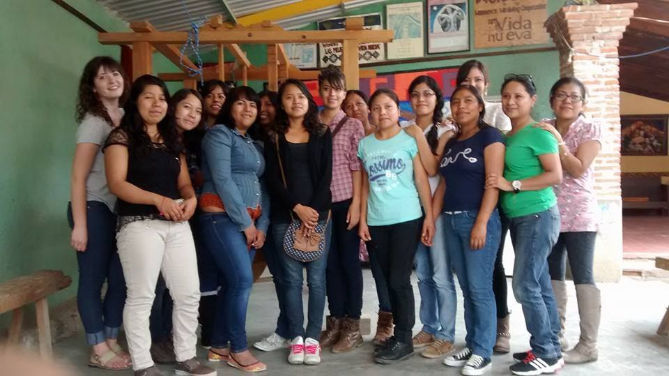 visiting a women's weaving cooperative