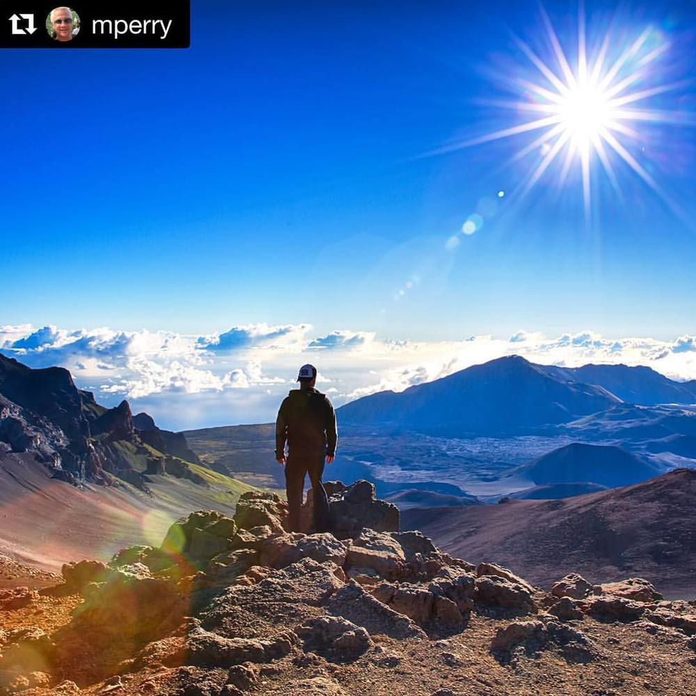 """I'm on top of the world, hey!"" We are glad you had a great time on #ther2h!! #Repost @mperry with @repostapp. ・・・ Inspiration to do anything! Like being on top of the world! #SAPtd #Maui #Hawaii #Haleakala #haleakalanationalpark #haleakalacrater @road2hana"