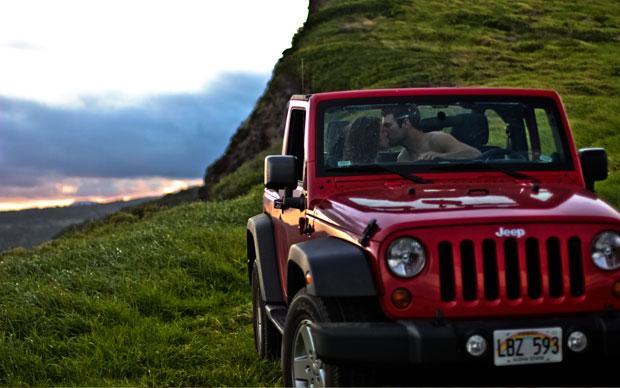 Gettin' a little romantic on the Road to Hana - Maui!