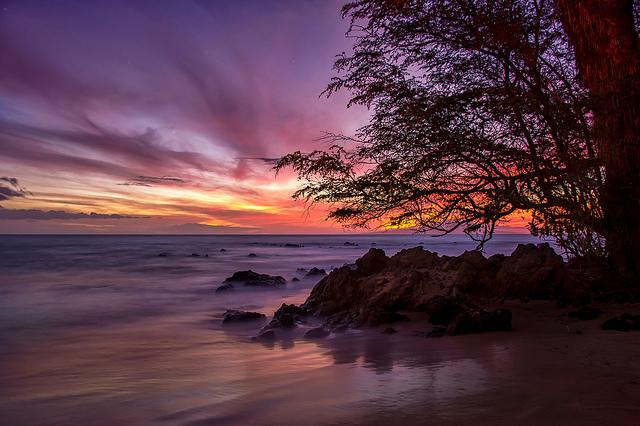 Ulua Beach in South Maui. Amazing sky.