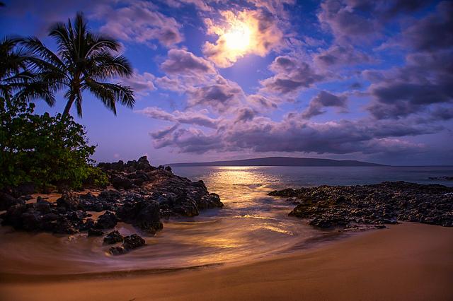 Moonlit beach. Wow.