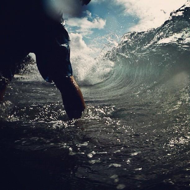 Gettin barreled at DT Flemings in Kapalua (Taken with instagram)