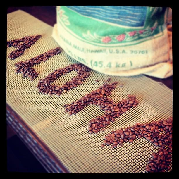 Aloha Friday spelled out with Maui Grown Coffee!! #adventure #romance #maui #hawaii