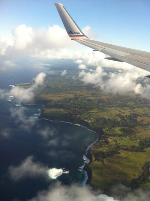 View from above of the Eastern Coast of Maui, Hawaii. #adventure #romance #maui