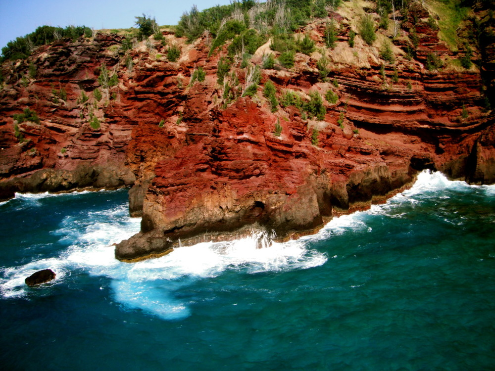The red sands of Maui come from the iron in the volcanic rock, which is literally rusting before your eyes!