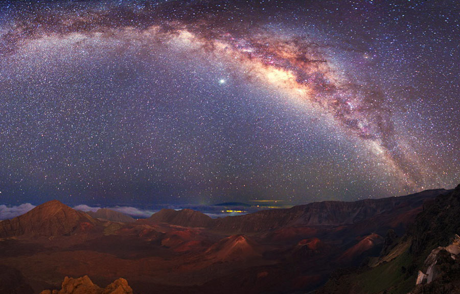 Looking for adventure and romance on Maui? How about this view of the Milky Way from 10,000 feet above sea level!