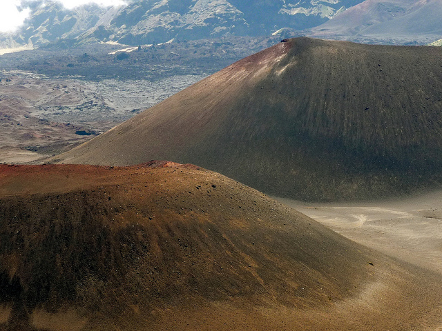 What does the inside of a volcano look like?