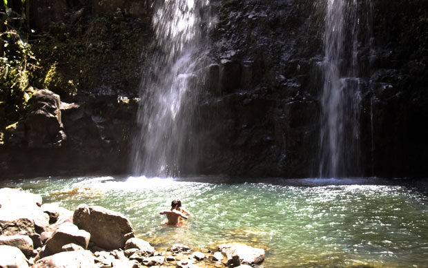 Today's hidden feature is a waterfall on Maui just off the Road to Hana. Romance awaits.