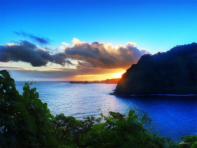 Sunrise at Honomanu Bay!