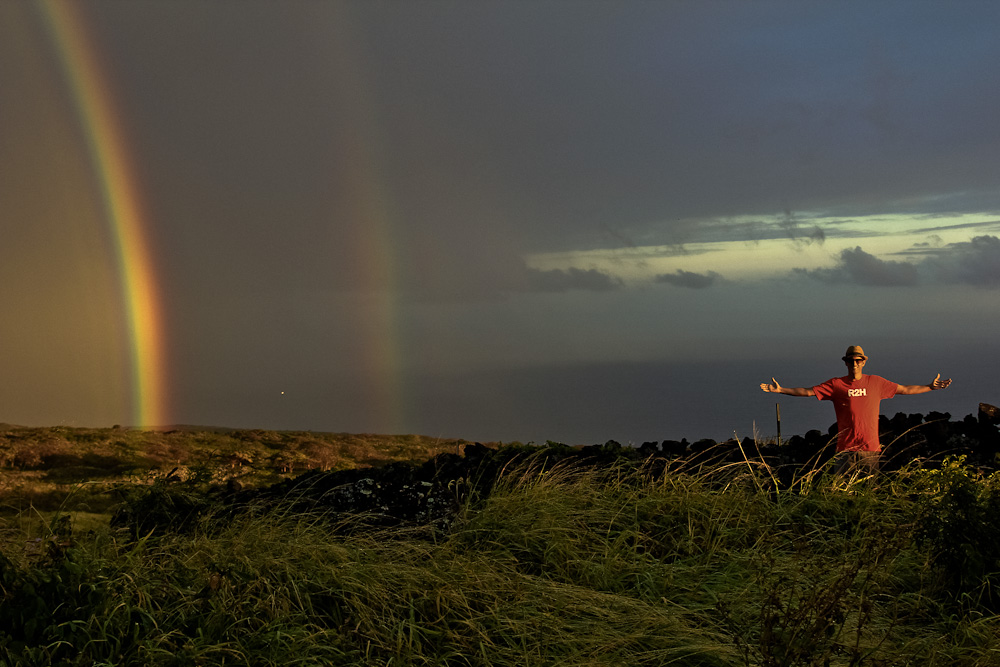 Double rainbow on the Road to Hana! Awesome!