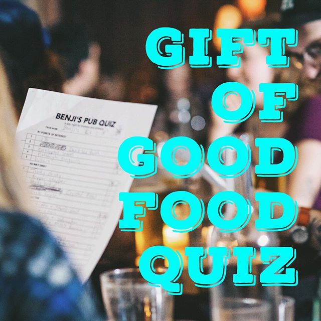 TONIGHT! Help us raise a bunch of money for @fernwoodnrg #giftofgoodfood 🥦 Tickets are $10 on the door and we will be donating 10% of food sales, so come hungry!  No reservations - first come first serve / Doors @ 6 / Quiz @ 7:30