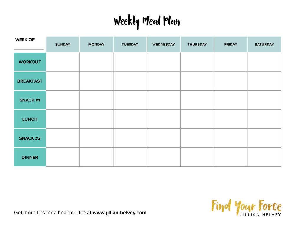 Creating The Best Weekly Meal Plan  Find Your Force