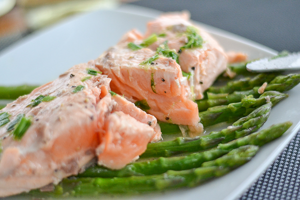 Baked Salmon with Asparagas