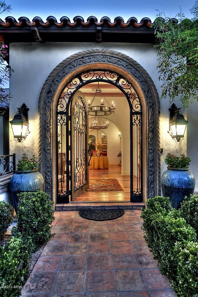 spanish style door just home