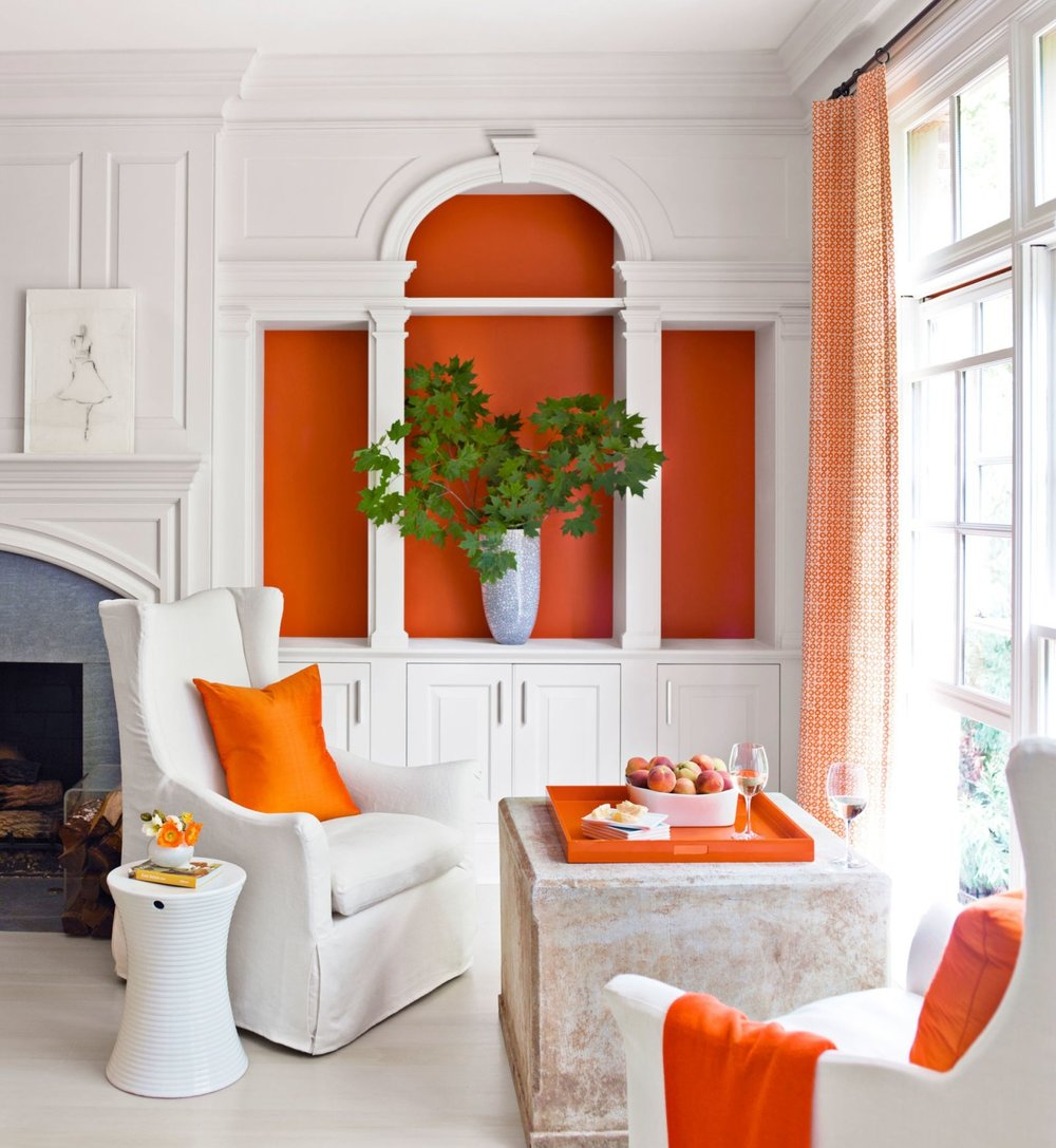 orange decor just home