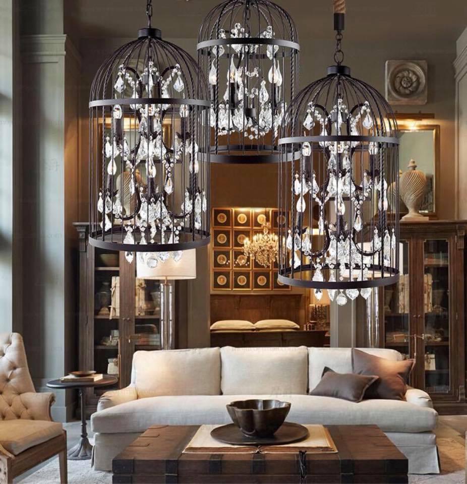 birdcage chandeliers just home