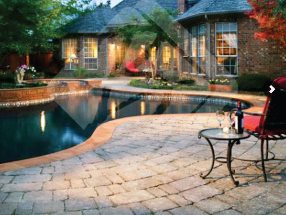 Bleu Stone Paving: Pool Decks