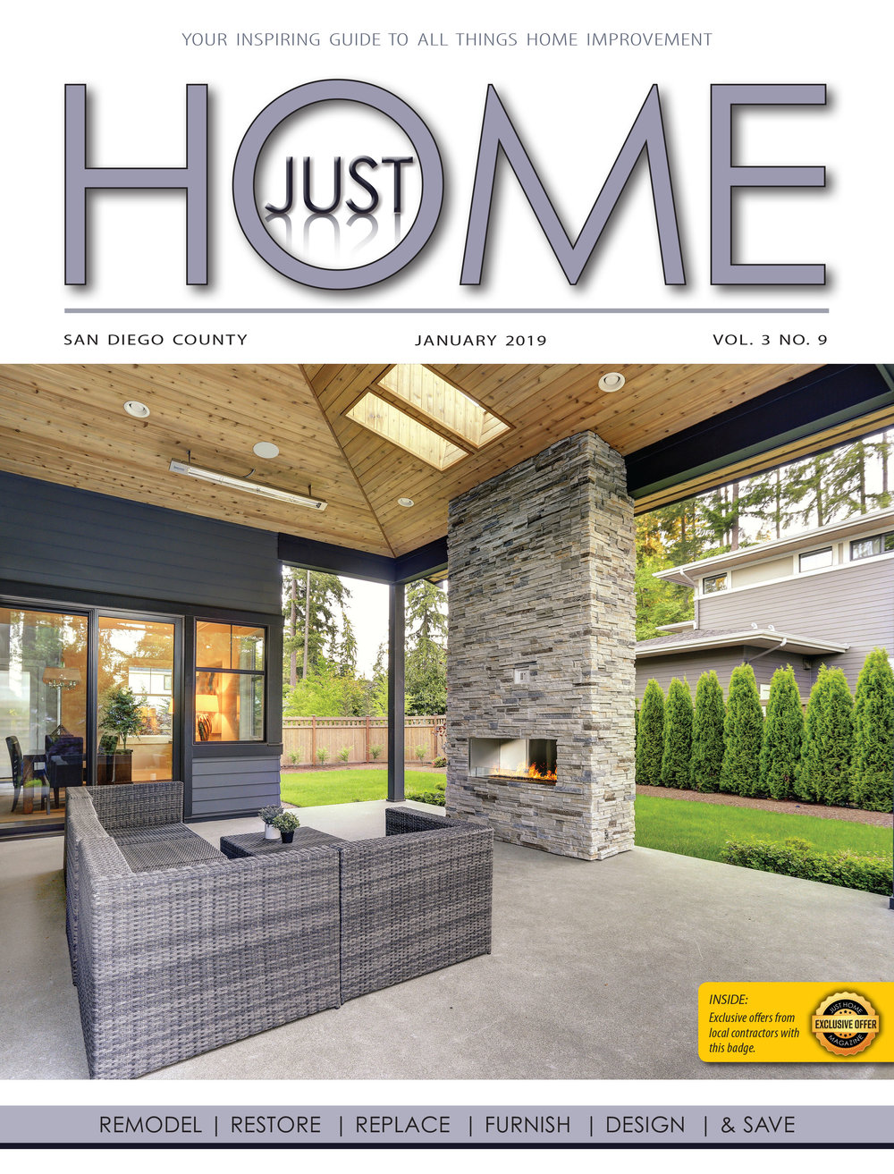 SAN DIEGO County  - Just Home January 2019 ISSUE