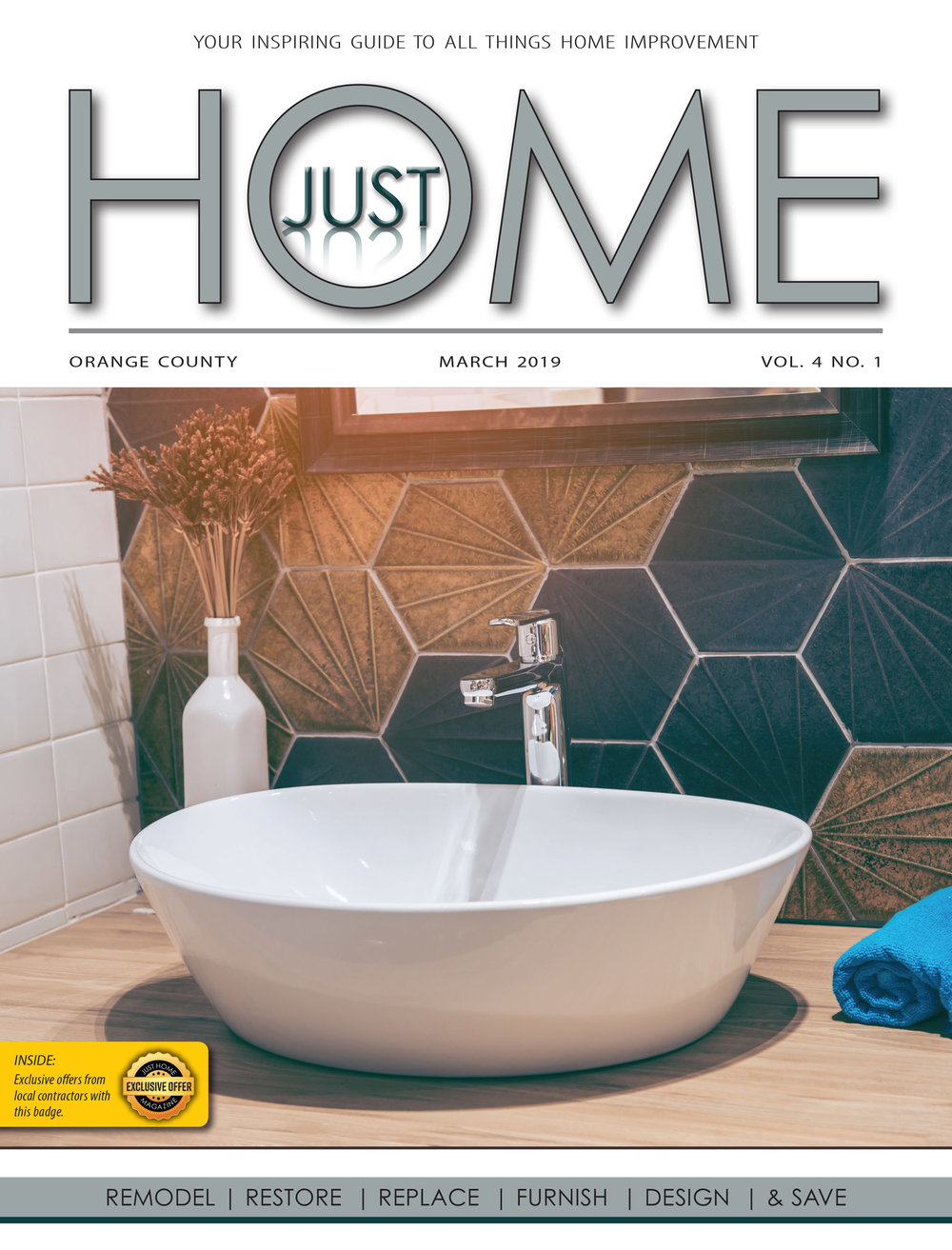 ORange County  - Just Home MARCH 2019 ISSUE