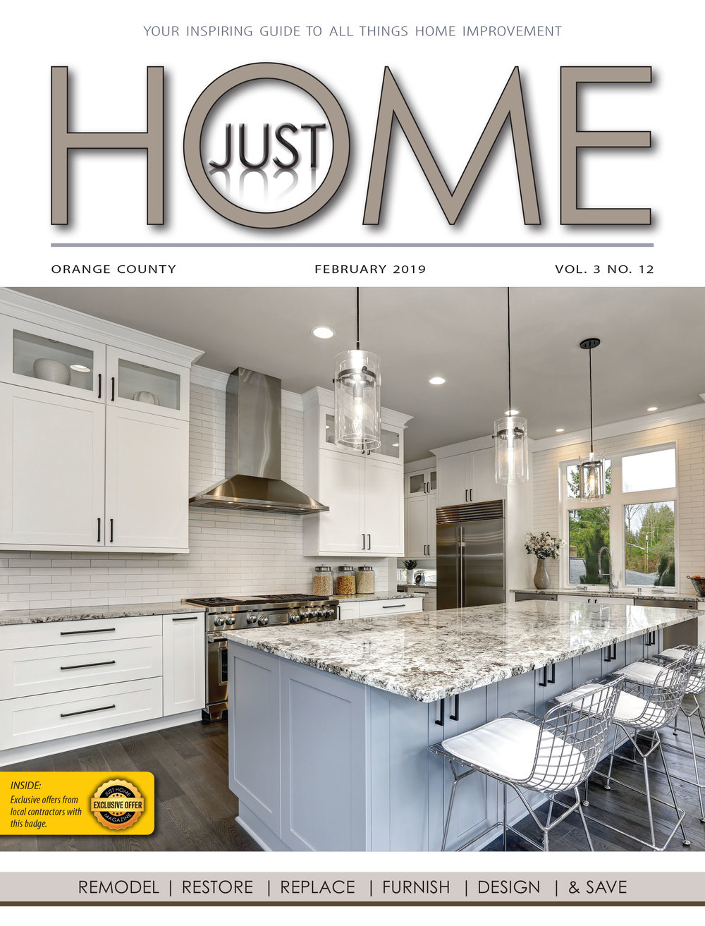 ORange County  - Just Home FEBRUARY 2019 ISSUE