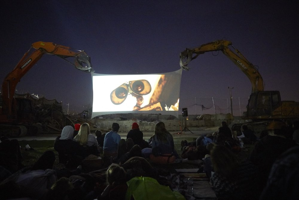 Live at the Dump, Movie Night.  Courtesy of the artist.
