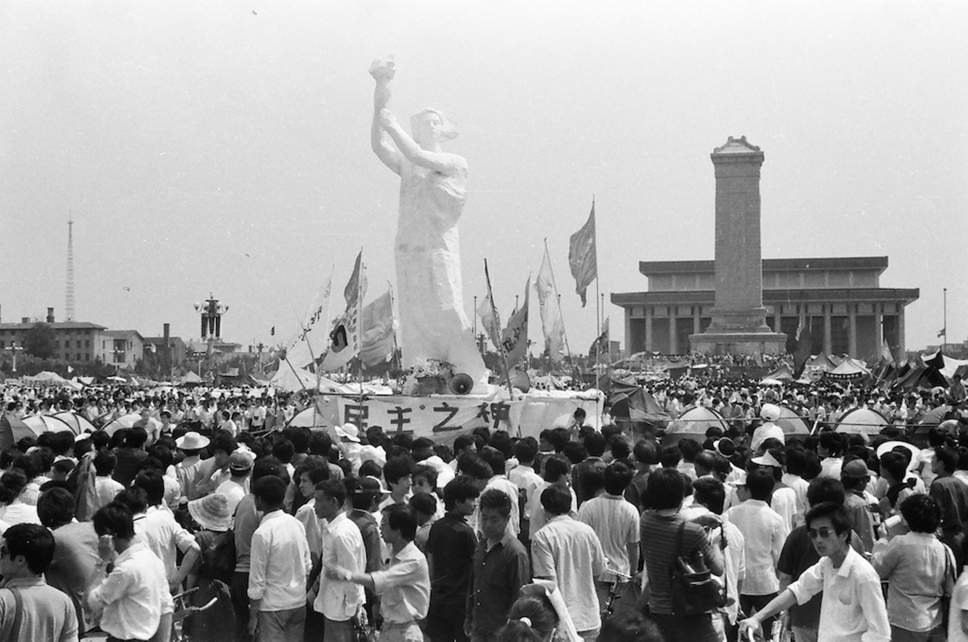 The Goddess of Democracy in Tiananmen Square in 1989 (Shelley Zang/ The China Girls  )