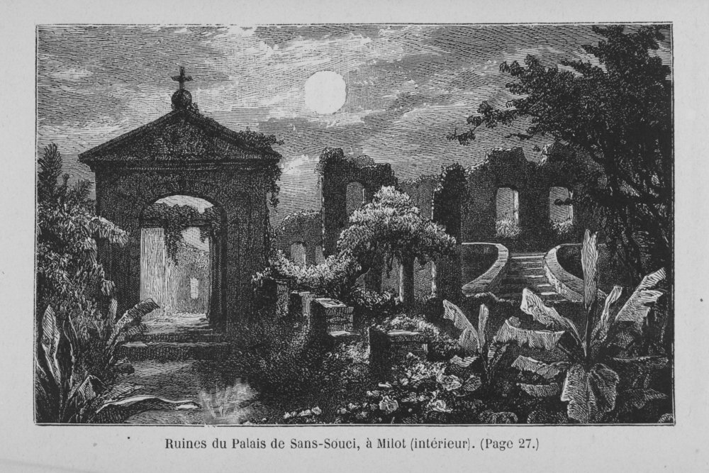 Ruines du Palais de Sans-Souci, a Milot (interieur),  Schomburg Center for Research in Black Culture, Jean Blackwell Hutson Research and Reference Division, 1888. ( The New York Public Library )