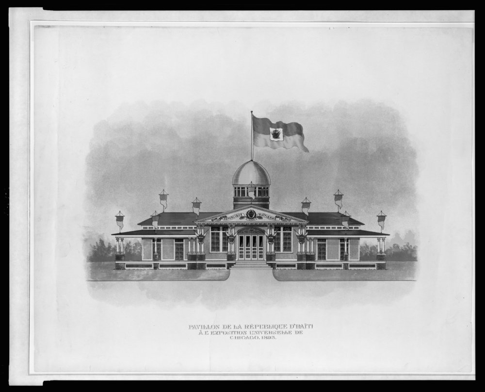 Pavillon de la République d'Haïti à Exposition Universelle de Chicago, 1893 . ( Library of Congress )