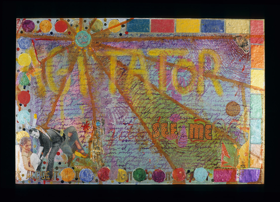 agitator , 2004, Mixed media on paper, 10 x 15 inches.