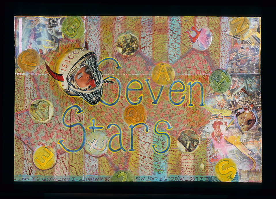 seven stars , 2004, Mixed media on paper, 10 x 15 inches. Private collection.