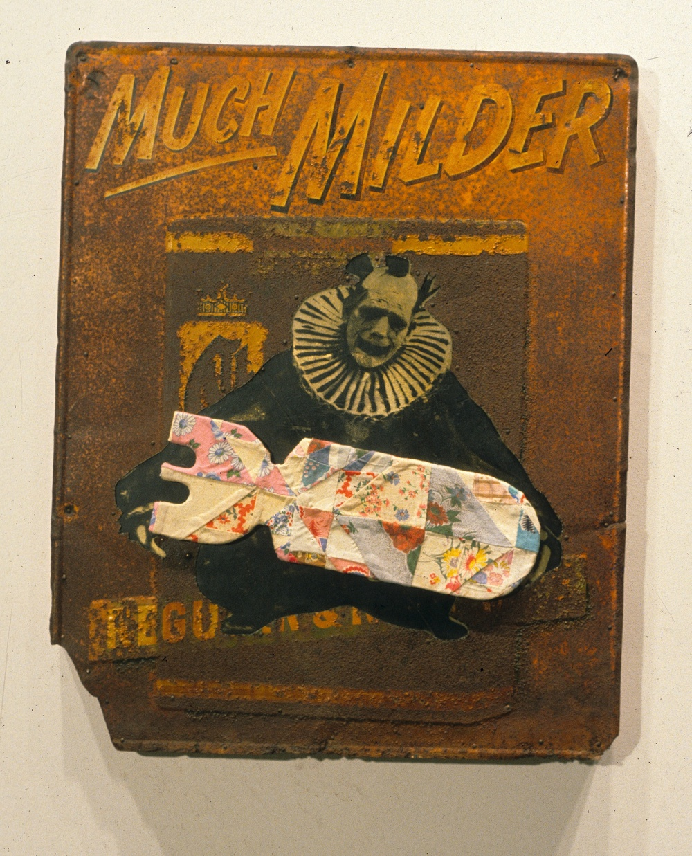 Much Milder , 1997, Mixed media on panel, 30 x 23 x 3 inches. Private collection.